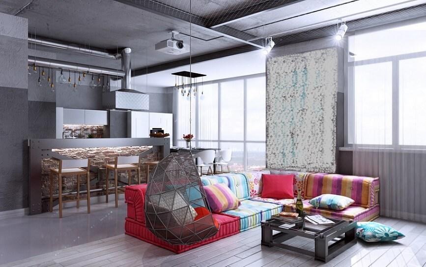 Стиль лофт в интерьере квартиры: оригинальные идеи дизайна