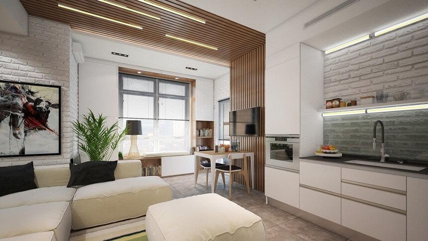 Дизайн интерьера маленькой квартиры в Киеве