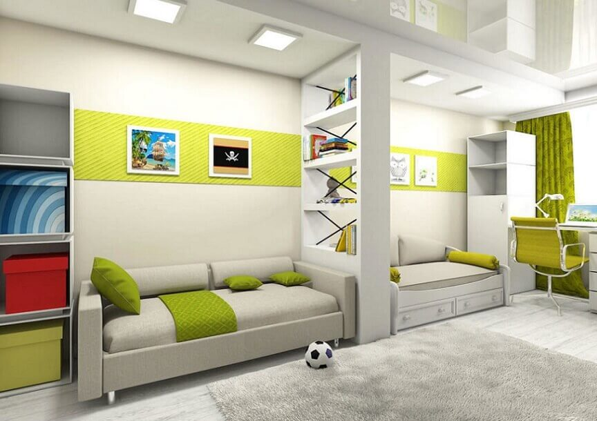 Дизайн интерьера детской комнаты для девочек и мальчиков