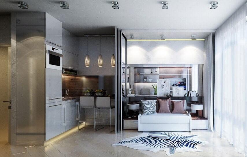 Дизайн маленькой квартиры в Киеве