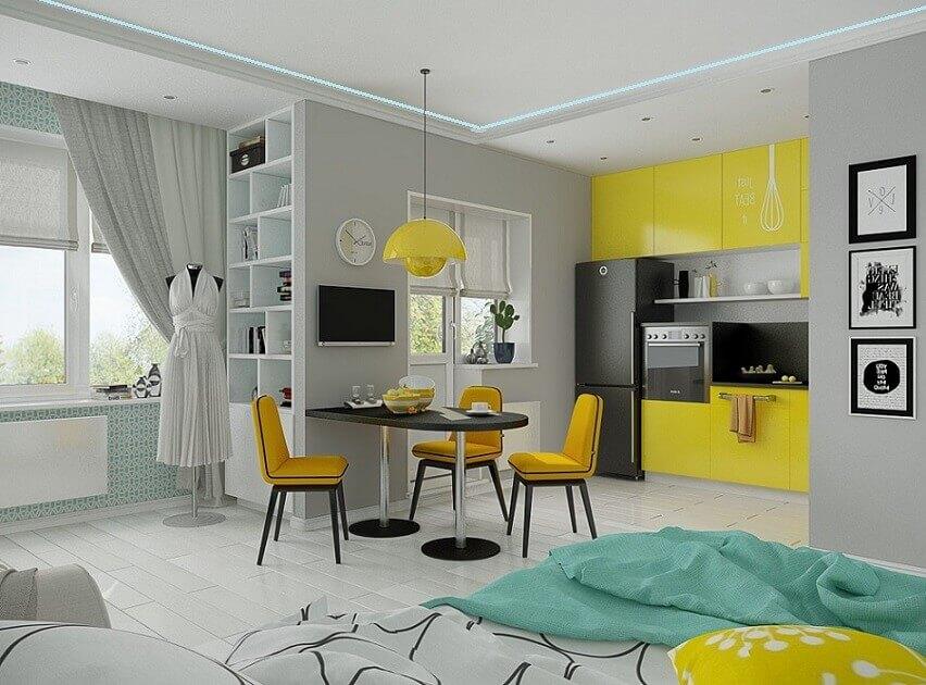 Ремонт маленькой квартиры в Киеве: фото дизайна интерьера