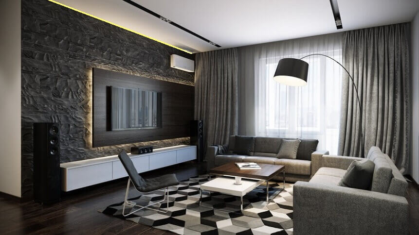 Модный дизайн интерьера квартир 2018