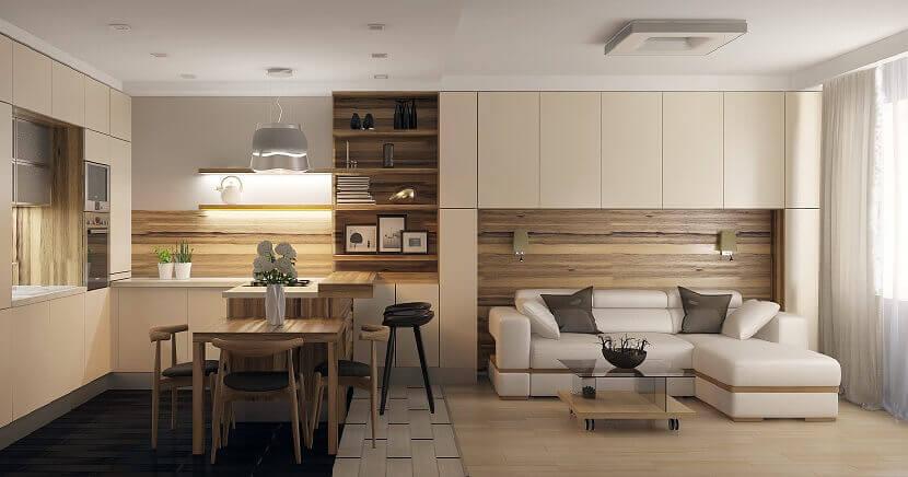 Ремонт новой квартиры в стиле минимализм: Дизайн интерьера, фото