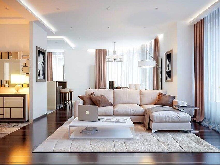 Красивый интерьер квартиры студии